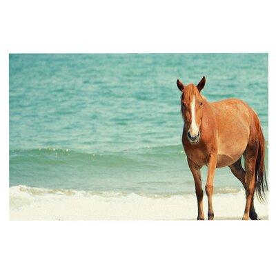 Robin Dickinson Wild Mustang of Carova Horse Ocean Doormat