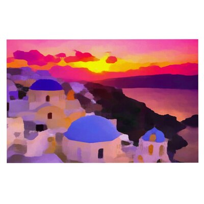 Oriana Cordero My Konos Sunset Doormat