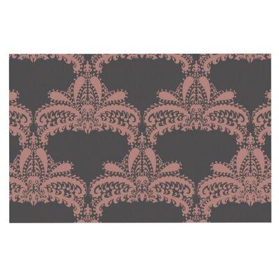 Nandita Singh Motif Floral Doormat Color: Pink
