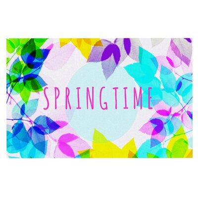 Sreetama Ray Seasons Springtime Rainbow Leaves Doormat