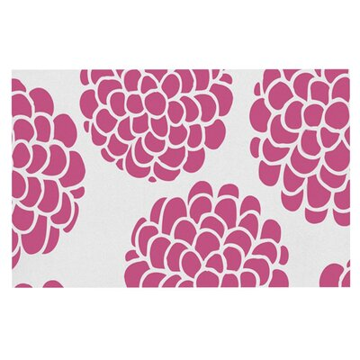 Pom Graphic Design Raspberry Blossoms Circles Doormat