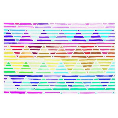 Sreetama Ray Stripes Cushion Rainbow Chevron Doormat