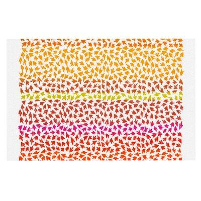Sreetama Ray Sunset Arrows Abstract Doormat