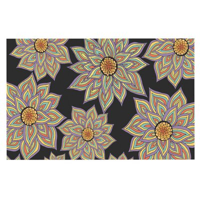 Pom Graphic Design Floral Dance Doormat Color: Black