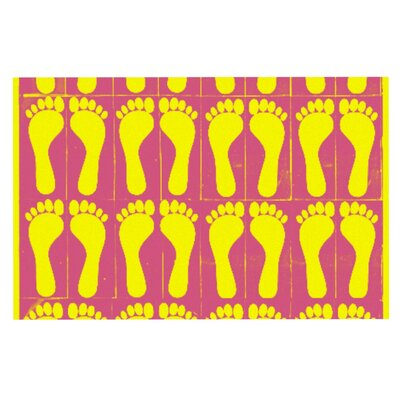 Sreetama Ray Footprints Doormat Color: Yellow/Pink