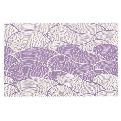 Pom Graphic Design The Lavender Seas Waves Doormat