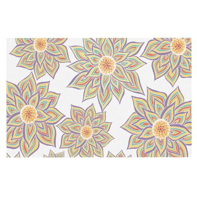 Pom Graphic Design Floral Dance Doormat Color: White