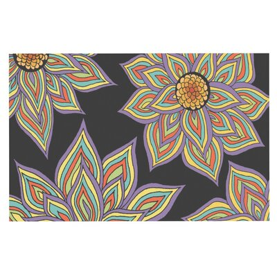 Pom Graphic Design Floral Rhythm Doormat Color: Black
