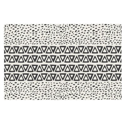 Pom Graphic Design 'Wind' Doormat Color: White