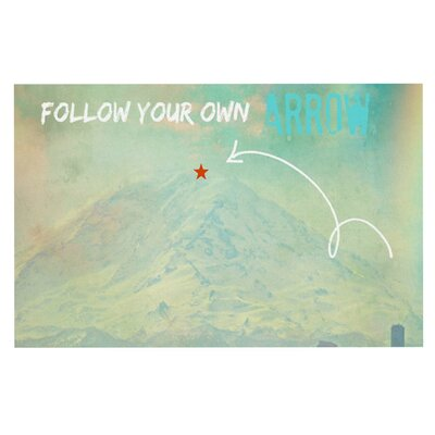 Follow Your Own Arrow by Robin Dickinson Fleece Throw Blanket Size: 80 H x 60 W x 1 D
