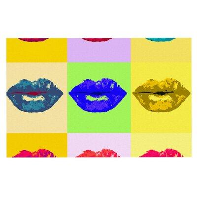 Oriana Cordero Pop Kiss Rainbow Lips Doormat
