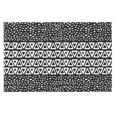 Pom Graphic Design 'Wind' Doormat Color: Black