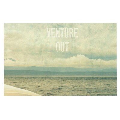 Venture Out by Robin Dickinson Fleece Throw Blanket Size: 80 H x 60 W x 1 D
