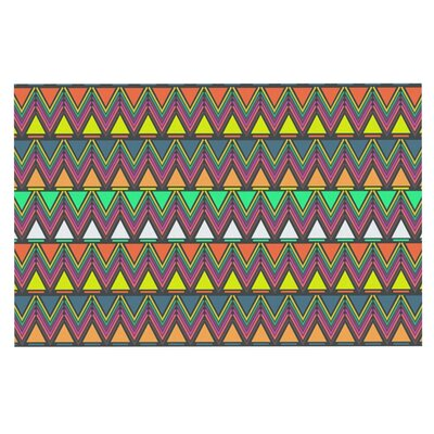 Nandita Singh Play Rainbow Chevron Doormat