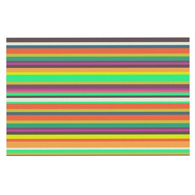 Nandita Singh Play Stripes Rainbow Doormat