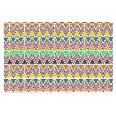Nandita Singh Play Multi Rainbow Chevron Doormat