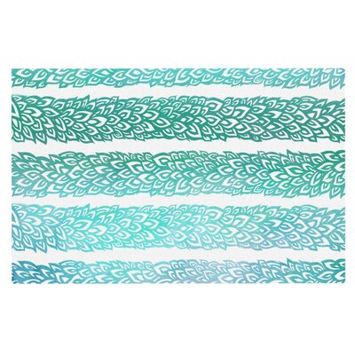 Pom Graphic Design Leafs from Paradise Doormat Color: Mint