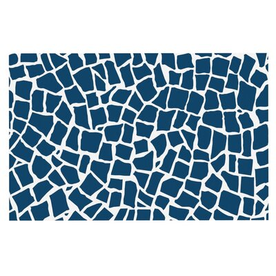 Project M British Mosaic Doormat Color: Navy