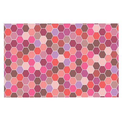 Nandita Singh Blush Tiled Doormat