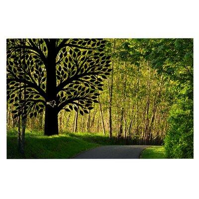Robin Dickinson Love Nature Forest Doormat