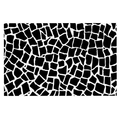 Project M British Mosaic Doormat Color: Black