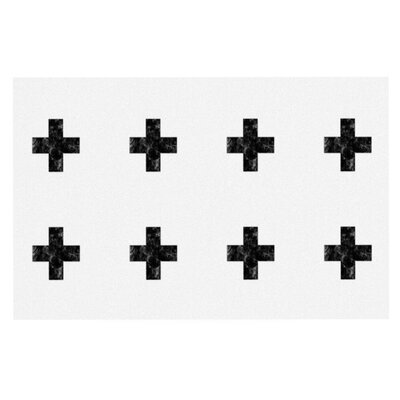 Skye Zambrana Swiss Cross Simple Doormat Color: White