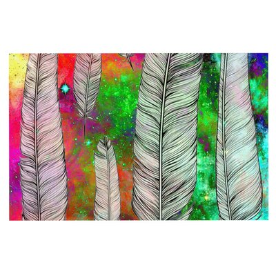 Suzanne Carter Feather Rainbow Space Doormat