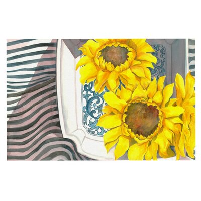 S. Seema Z Finall Sunflower Flower Doormat