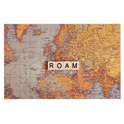 Sylvia Cook Roam Map World Doormat