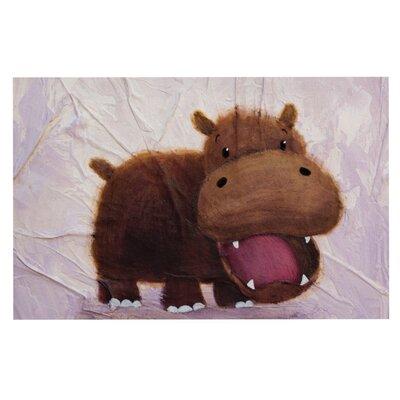 Rachel Kokko The Happy Hippo Doormat