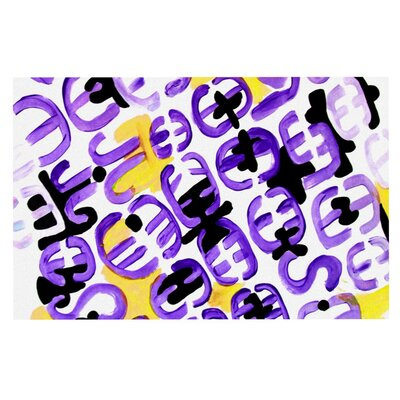 Theresa Giolzetti Theodoras Doormat Color: Purple/Gold