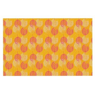 Apple Kaur Wild Summer Dandelions Circles Doormat Color: Gold