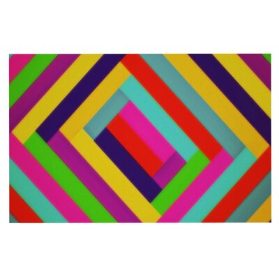 Trebam Nakriv Rainbow Abstract Doormat