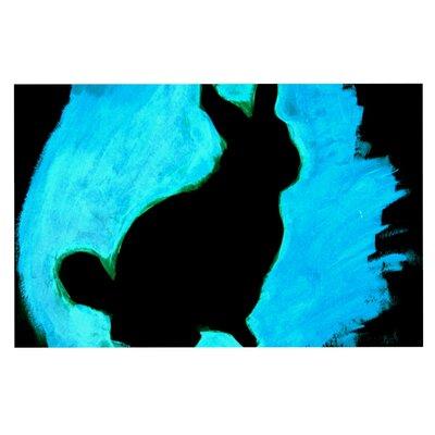 Theresa Giolzetti Moon Bunny Paint Doormat