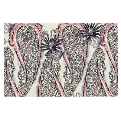 Sonal Nathwani Inky Paisley Bloom Doormat