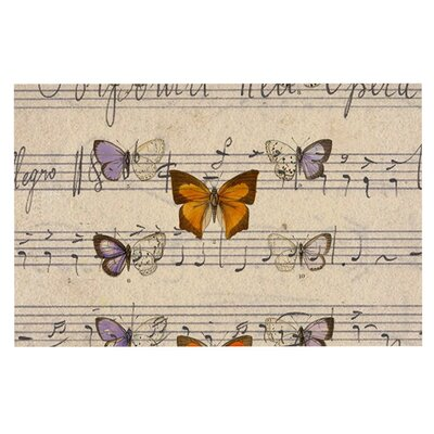 Suzanne Carter Butterfly Opera Music Doormat