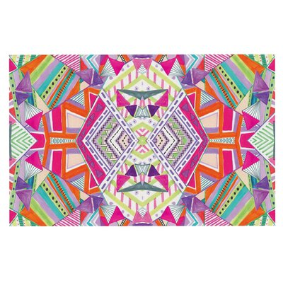 Vasare Nar Carrousel Geometric Rainbow Doormat