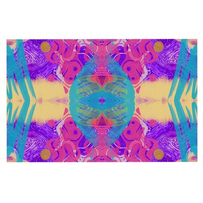Vasare Nar Glitch Kaleidoscope Doormat