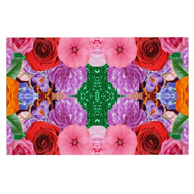 Vasare Nar Kaleidoscopic Flowers Doormat