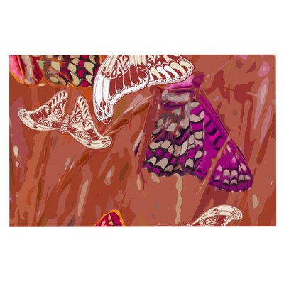 Vikki Salmela Butterflies Party Doormat Color: Brown