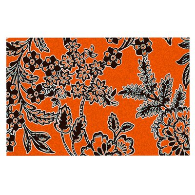 Vikki Salmela Blossom Doormat Color: Orange