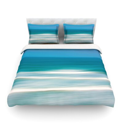 Sun and Sea by Ann Barnes Featherweight Duvet Cover Size: Queen, Fabric: Cotton