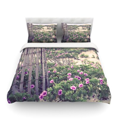 Morning at the Beach by Ann Barnes Featherweight Duvet Cover Size: Queen, Fabric: Lightweight Polyester