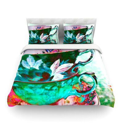 Mad Hatters T-Party IV by alyZen Moonshadow Featherweight Duvet Cover Size: Twin, Fabric: Lightweight Polyester