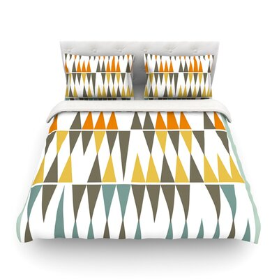 Diamond Kilim by Pellerina Design Featherweight Duvet Cover Size: Twin, Fabric: Lightweight Polyester