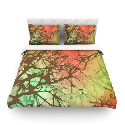 Fire Skies by Alison Coxon Featherweight Duvet Cover Size: Twin
