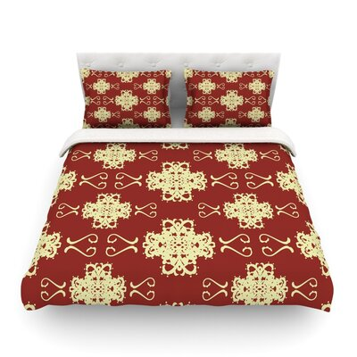 Asian Motif Damask Light by Mydeas Featherweight Duvet Cover Size: Twin, Fabric: Lightweight Polyester