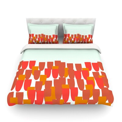 Sunrise Poppies by Pellerina Design Featherweight Duvet Cover Size: King/California King, Fabric: Lightweight Polyester
