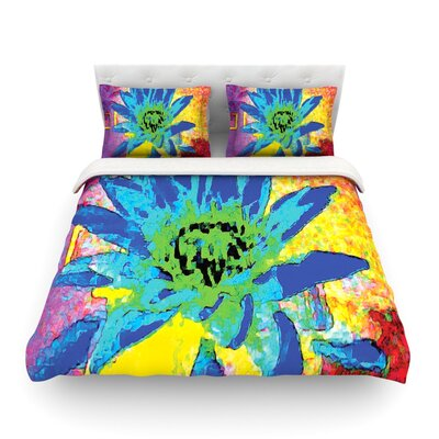 Wild Lotus by Anne LaBrie Featherweight Duvet Cover Size: Queen, Fabric: Lightweight Polyester