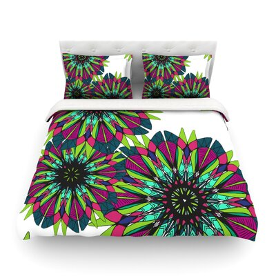 Bright by Alison Coxon Featherweight Duvet Cover Size: Queen, Fabric: Woven Polyester
